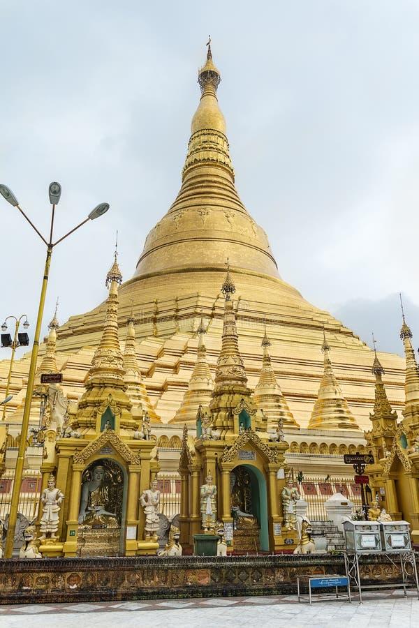 Shwedagon pagoda in a rainy day.  Yangon, Rangoon, Burma, Mianmar. Shwedagon pagoda, in Yangon, Burma, Myanmar royalty free stock photo