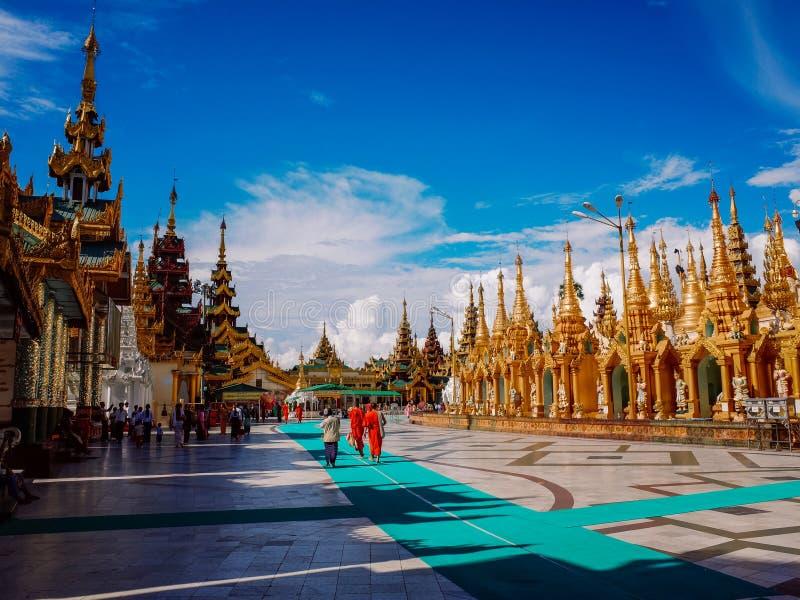 Shwedagon Pagoda-Rangoon-Myanmar fotografia stock libera da diritti