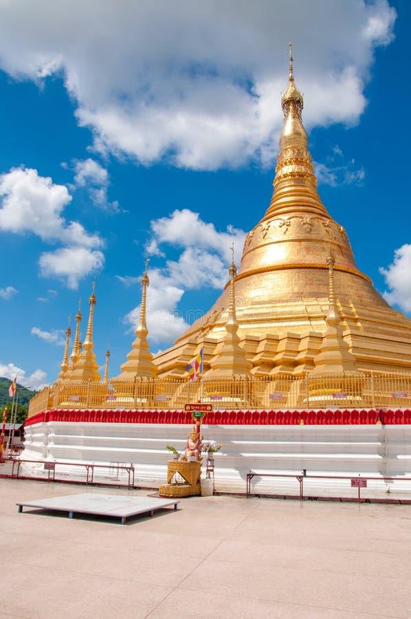 Shwedagon Pagoda, Tachileik, Myanmar royalty free stock photos