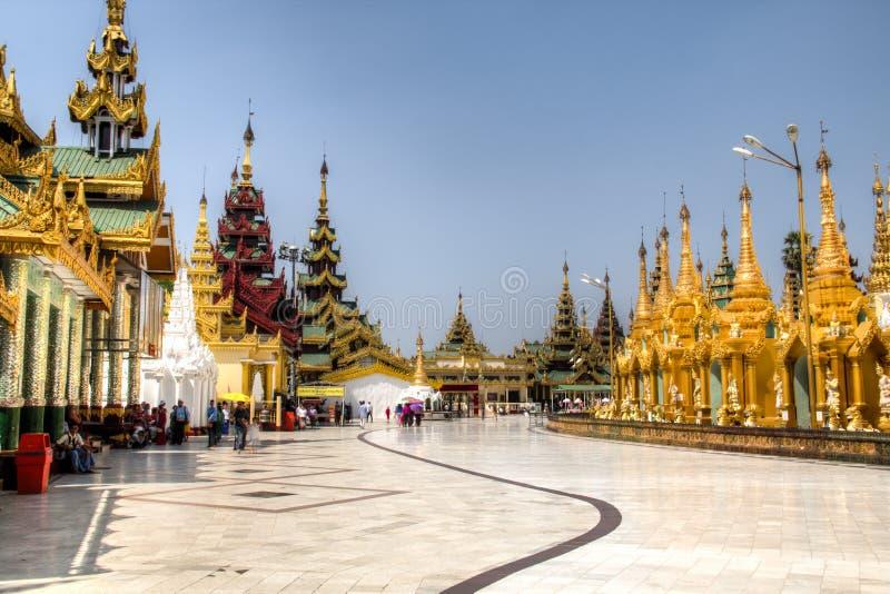 Shwedagon pagoda w Yangon, Myanmar fotografia stock