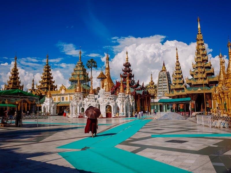 Shwedagon Pagoda-Yangon-Myanmar images libres de droits
