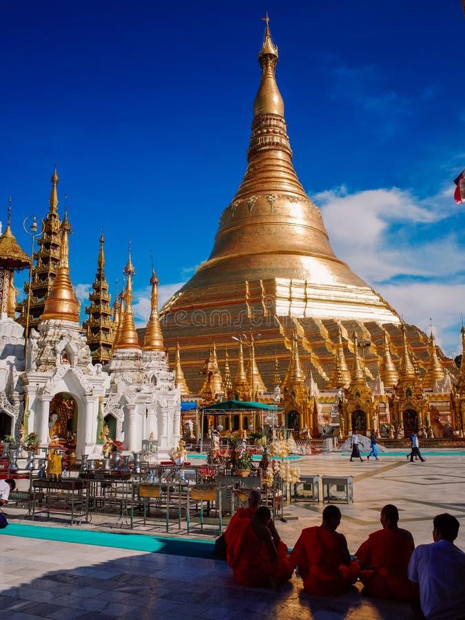 Shwedagon Pagoda-Yangon-Myanmar photos libres de droits