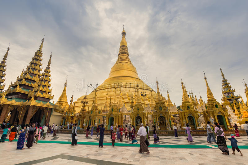 The Shwedagon Pagoda stock photos