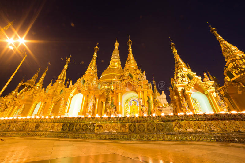 The Shwedagon pagoda, Yangon, Myanmar royalty free stock photo