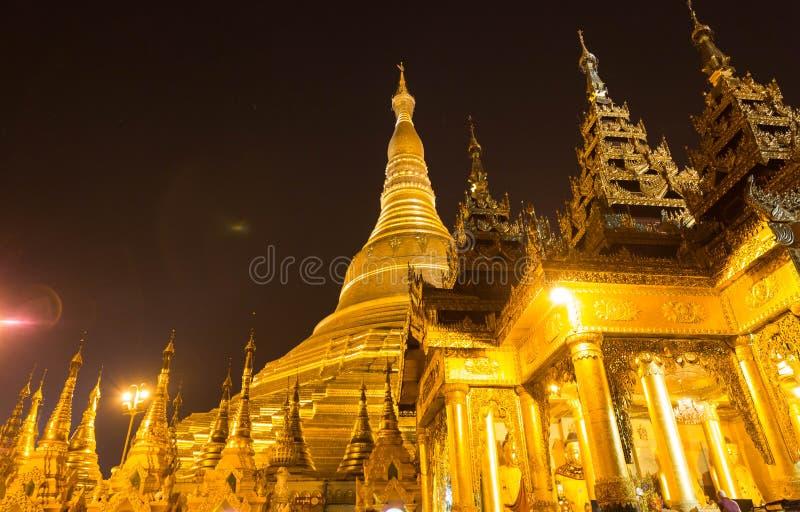 The Shwedagon Pagoda, yangon, Myanmar. The Shwedagon pagoda the most famous pagoda of southest Asia stock photo