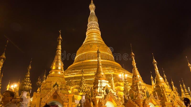 The Shwedagon Pagoda, yangon, Myanmar stock image