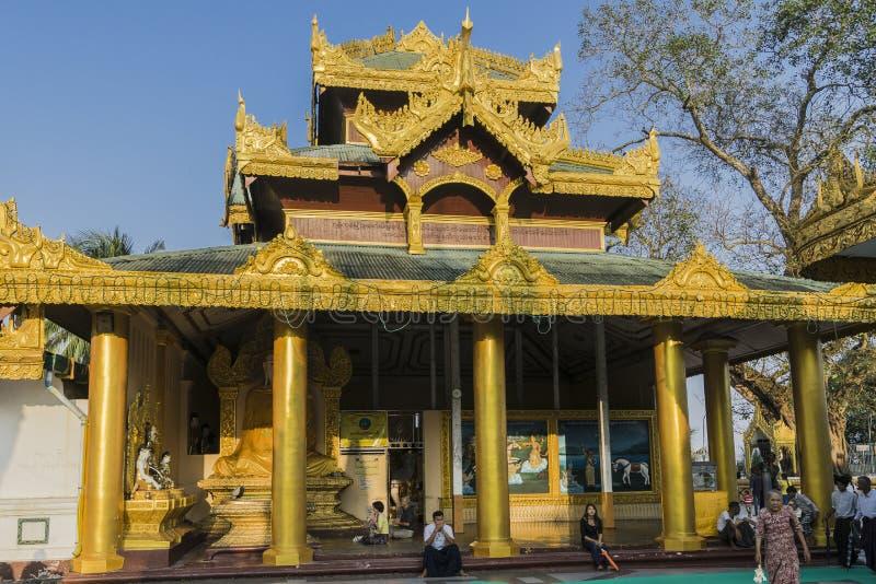 Shwedagon Pagoda in Yangon. royalty free stock image