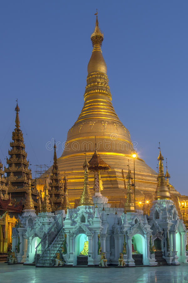 Shwedagon Pagode - Rangun - Myanmar lizenzfreies stockfoto