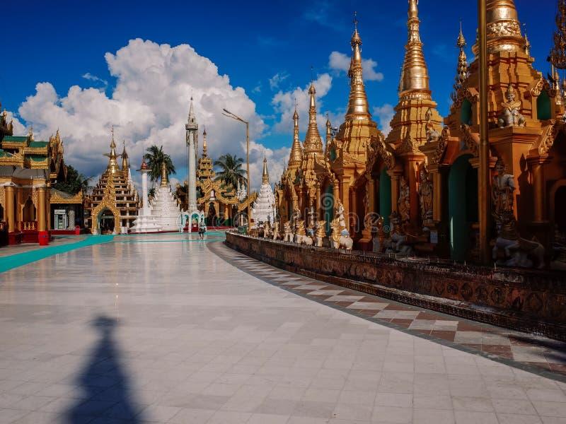 Shwedagon Pagode-Yangon-Myanmar imagem de stock