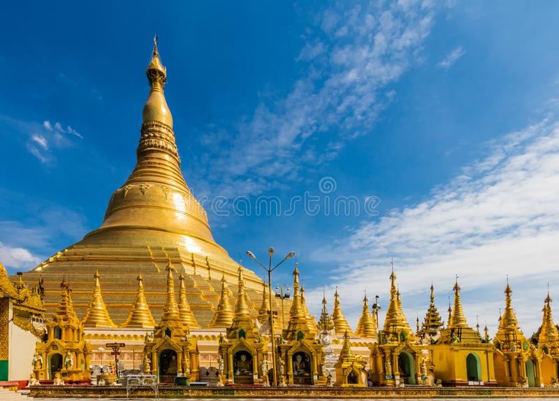 Shwedagon Pagodowy Yangon w Myanmar zdjęcie royalty free