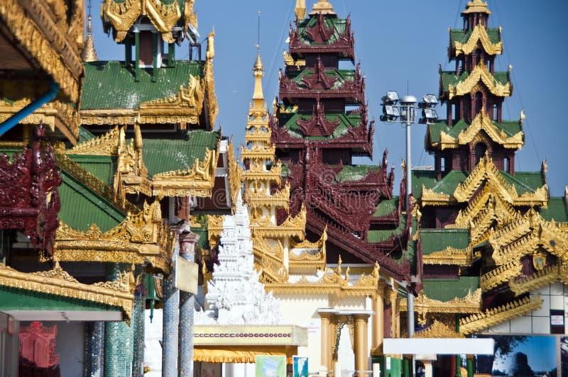 Shwedagon Paya, Yangoon 免版税图库摄影