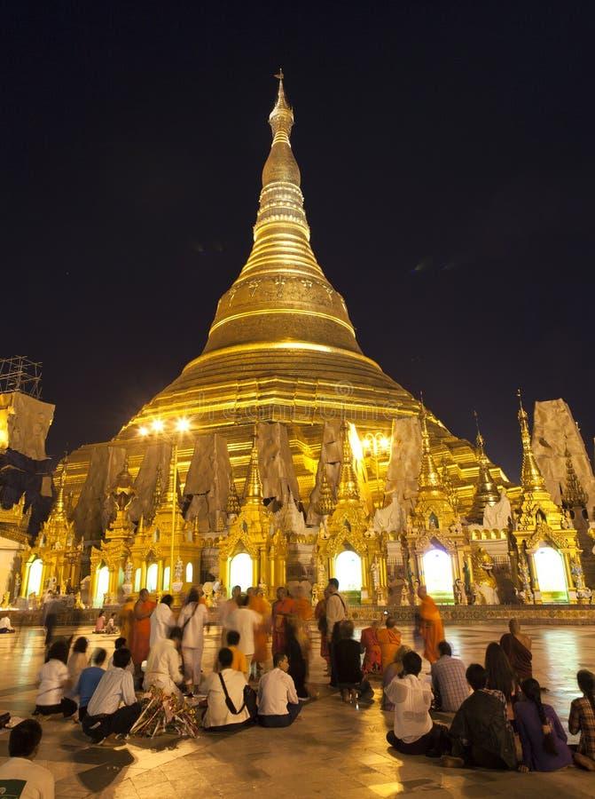 Download Shwedagon Paya by Night editorial stock image. Image of myanmar - 29592854