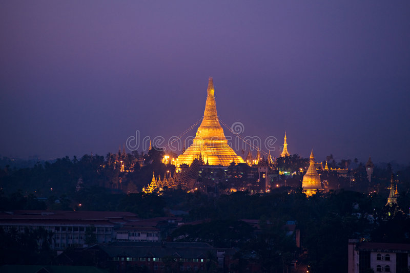Shwedagon Paya, Yangoon, Myanmar. immagini stock