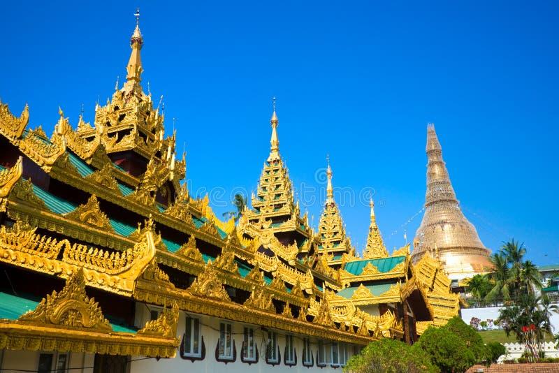 Shwedagon Paya, Yangoon, Myanmar. fotografie stock libere da diritti