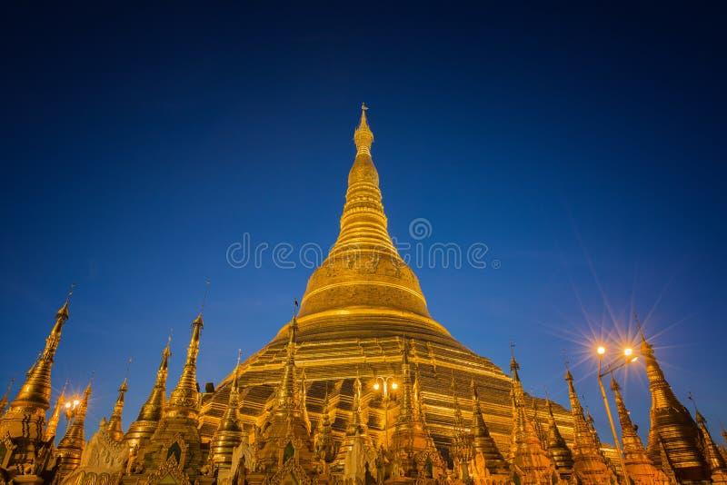 Shwedagon temple in Yangon. Golden Pagoda in Burma, Shwedagon temple in Yangon, Myanmar stock photo