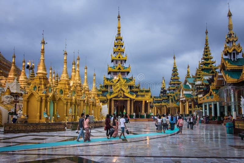 Shwedagonpagode Yangon royalty-vrije stock fotografie