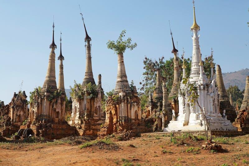 Shweherberg complex Dain Pagoda stock foto
