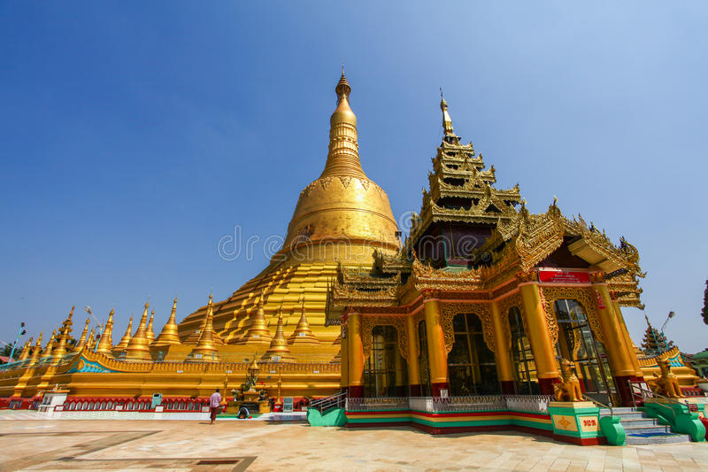 Shwemawdaw-Pagode, die höchste Pagode in Bago Myanmar lizenzfreies stockbild