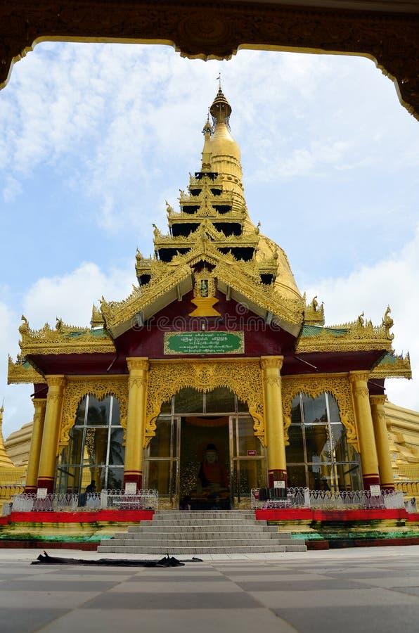 Shwemawdaw Paya pagoda jest stupą lokalizować w Bago, Myanmar obrazy stock