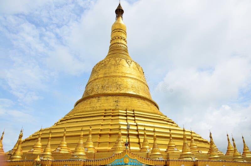 Shwemawdaw Paya pagoda jest stupą lokalizować w Bago, Myanmar zdjęcie royalty free