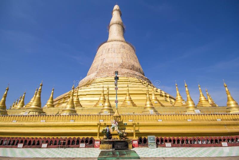 Shwemawdawpagode, Bago, Myanmar, mooie Pagode stock afbeeldingen