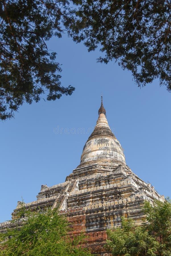 Shwesandaw-Pagode in Bagan, Myanmar lizenzfreie stockfotografie
