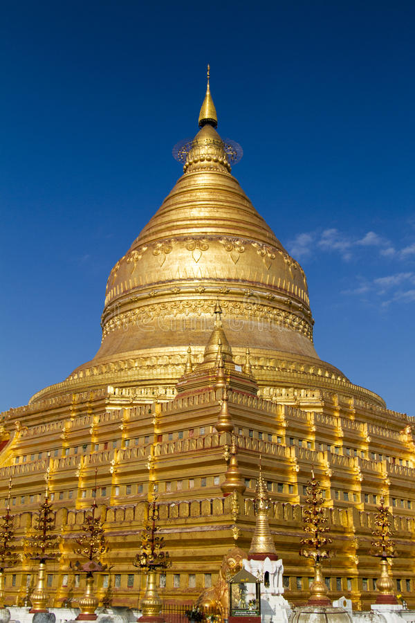 Shwezigon Pagoda, Bagan, Myanmar (Burma) stock photo