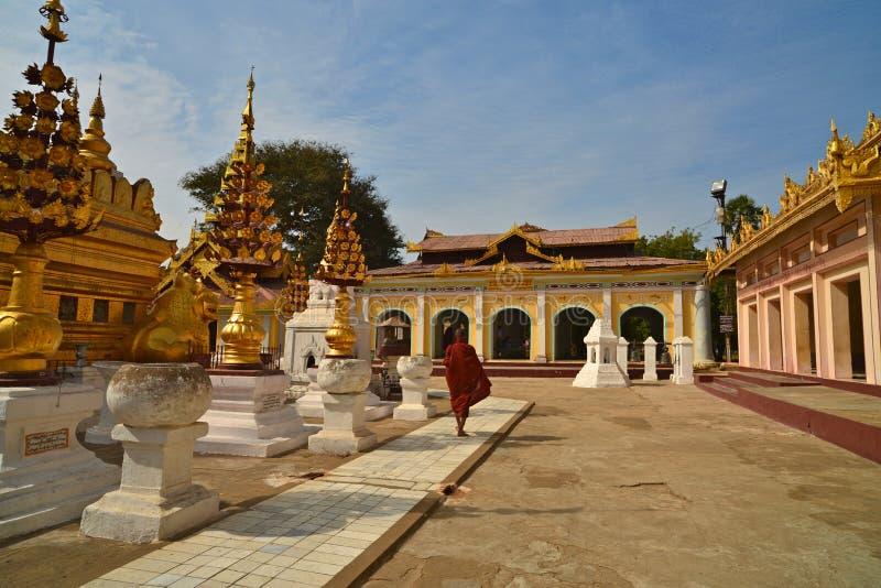 Shwezigon Paya.Bagan 免版税库存照片