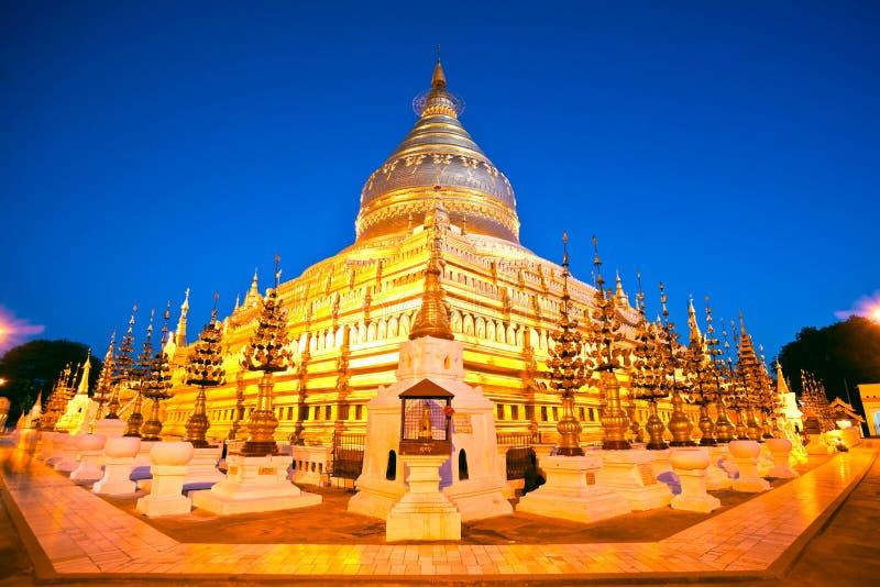 Shwezigon Paya, Bagan, Myanmar. imagen de archivo libre de regalías