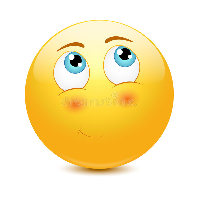 Download Shy Emoticon Royalty Free Stock Image - Image: 37845106