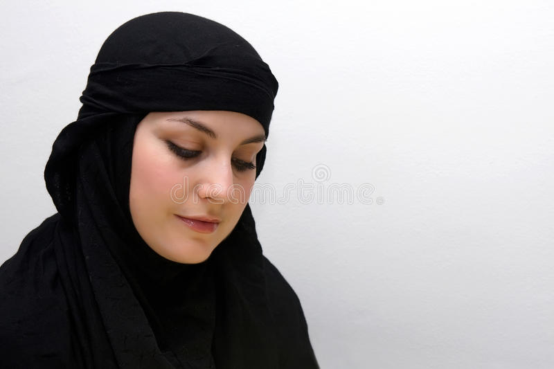 Shy islam woman royalty free stock photo