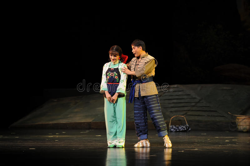 Shy lady- Jiangxi opera a steelyard. Jiangxi opera a steelyard is adapted from a true story: the last century fortys, the protagonists father runs an oil mill in royalty free stock photo