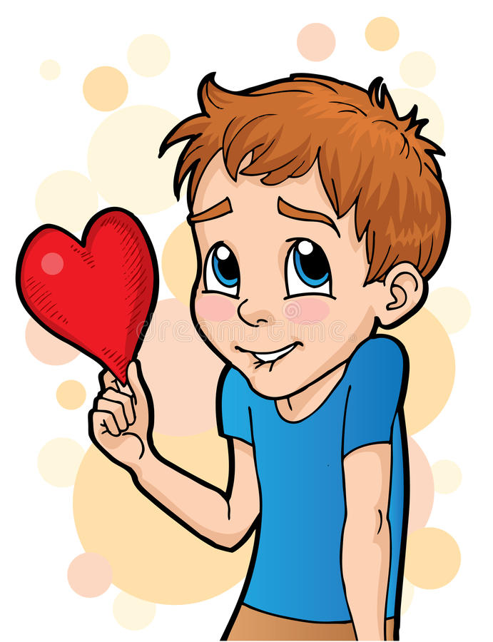 Shy Love stock vector. Illustration of cute, blue, vector ...