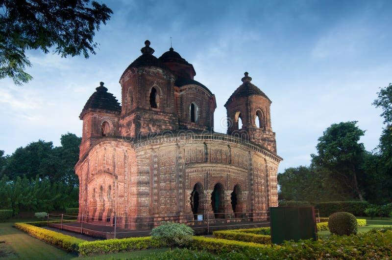 Shyamroy tempel, Bishnupur, Indien arkivbild