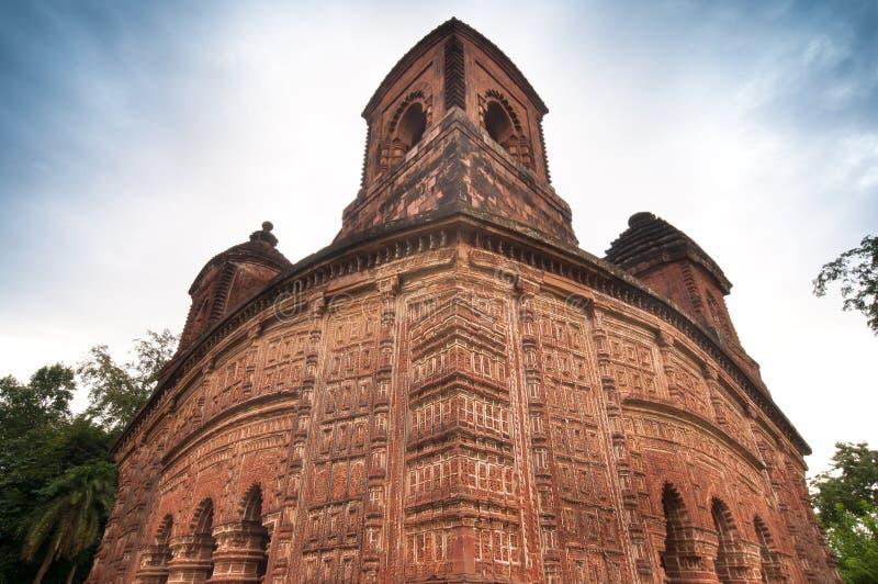 Shyamroy tempel, Bishnupur, Indien royaltyfri fotografi