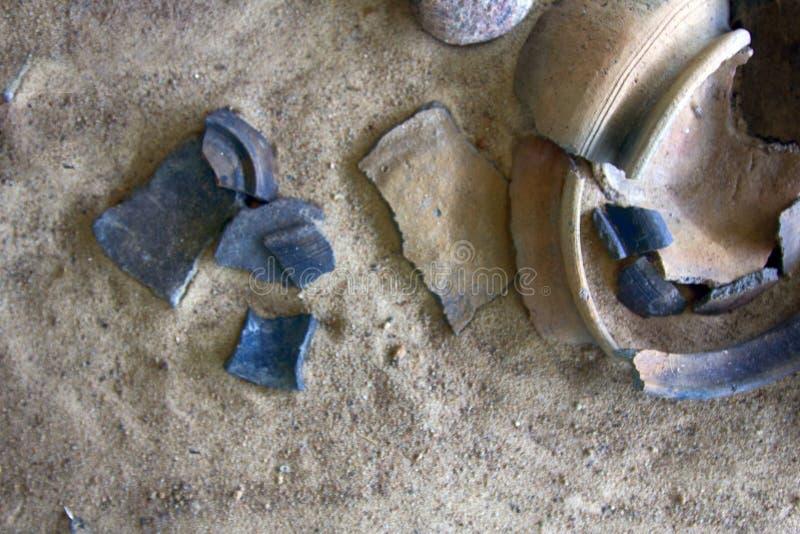 Siècle de la céramique 10-11 de stuc et de poterie de slave (et de Vikin photo libre de droits