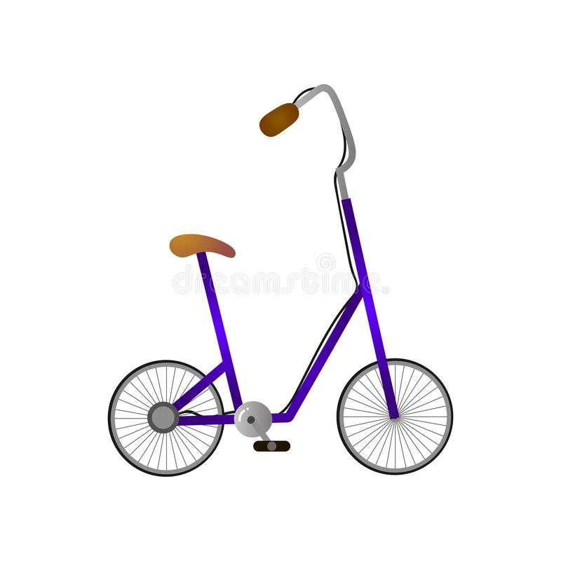 Siège élevé et manipuler de bicyclette moderne avec de petites roues illustration libre de droits