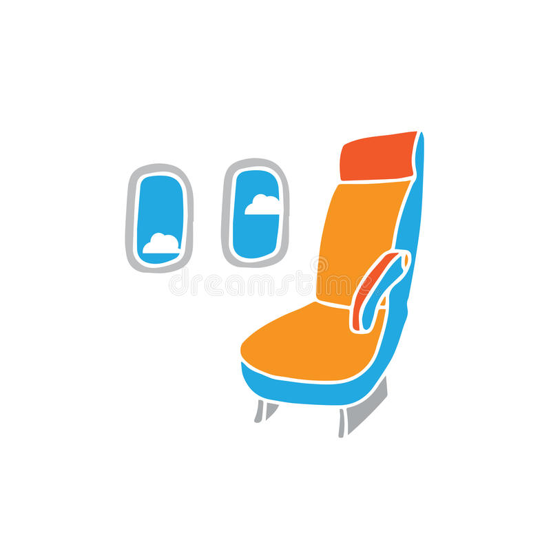 Siège d'avion illustration libre de droits