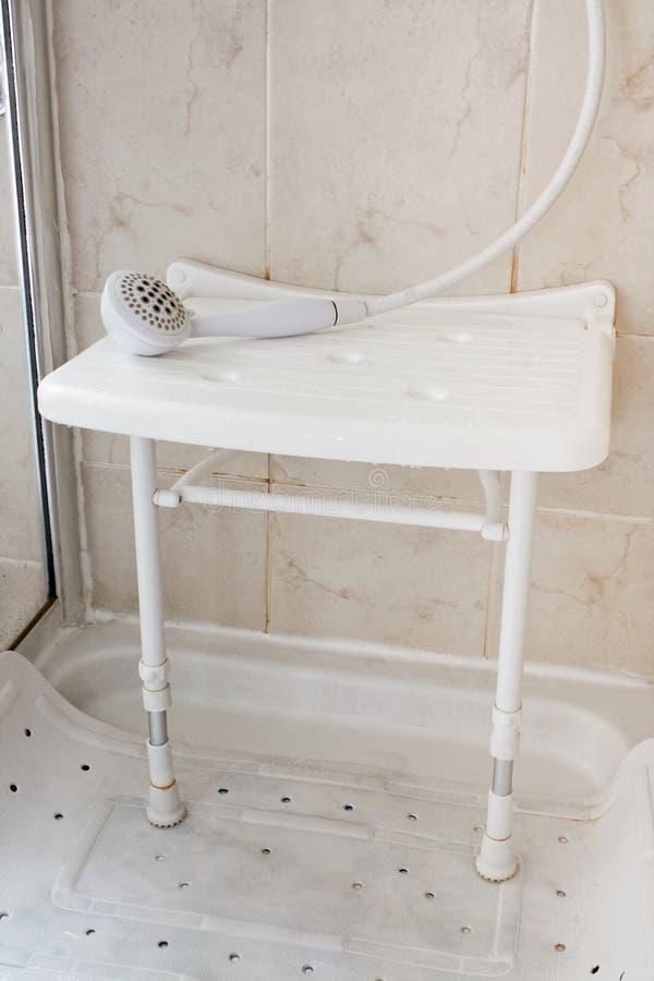 Siège de douche photo libre de droits