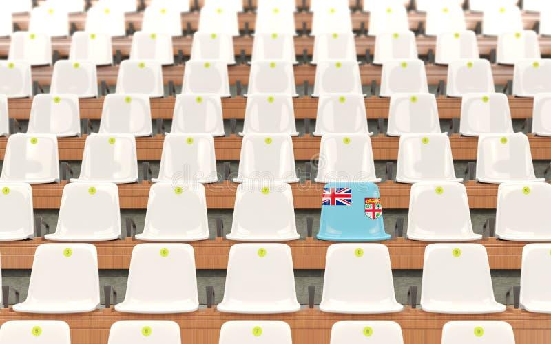 Siège de stade avec le drapeau du Fiji illustration libre de droits