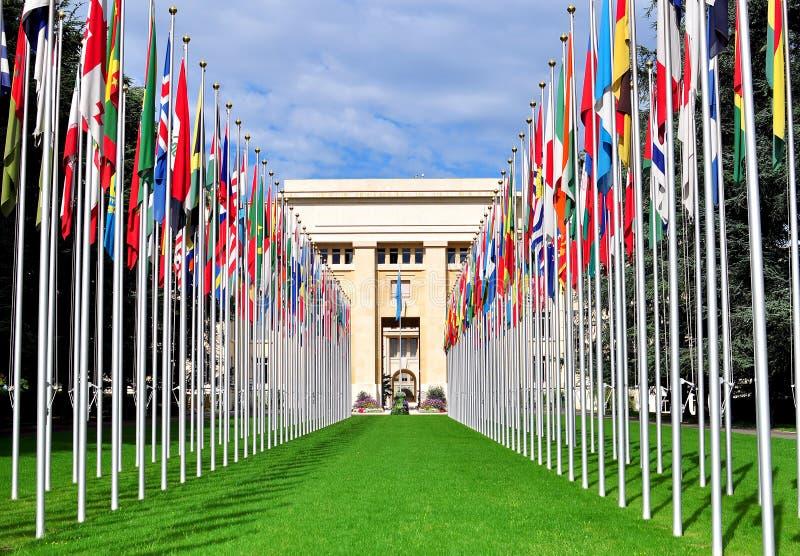 Siège des Nations Unies, ville de Genève, Suisse image stock