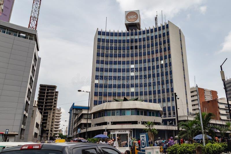 Siège social Lagos Nigéria d'UAC image libre de droits