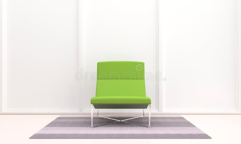 Siège vert dans l'intérieur illustration libre de droits