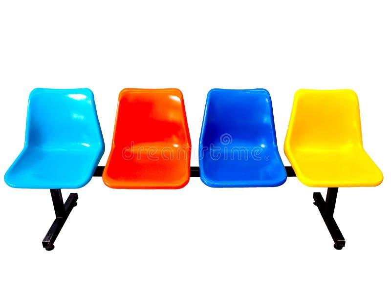 Sièges colorés de rangée image libre de droits