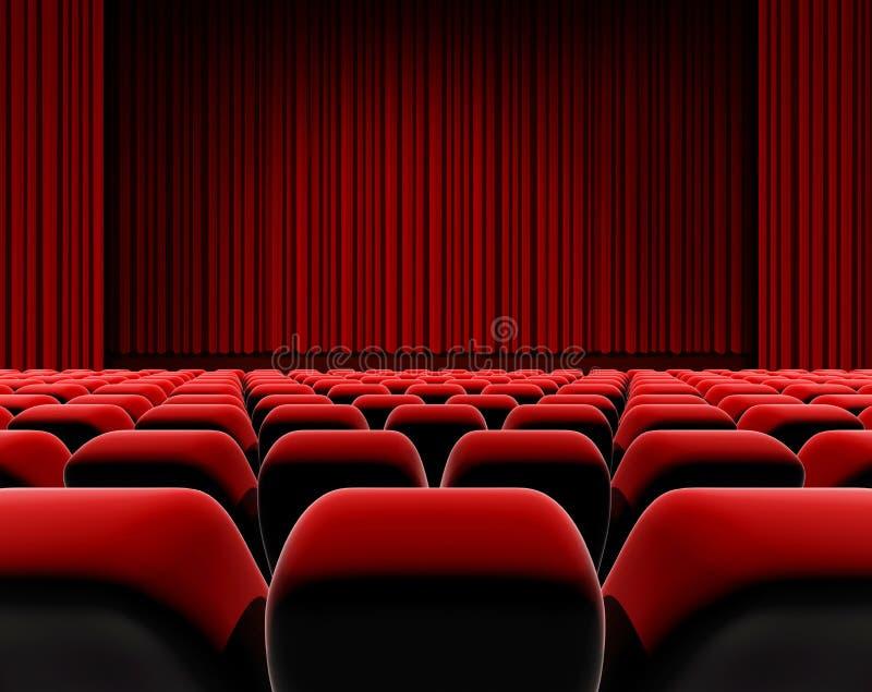 Sièges d'écran de cinéma ou de théâtre illustration libre de droits