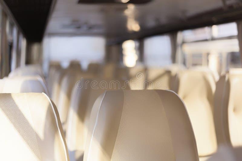 Sièges d'autobus image stock