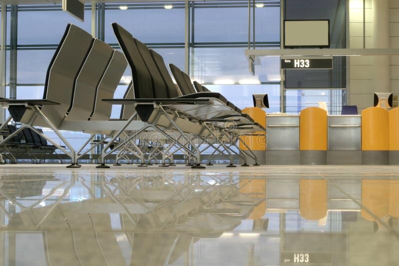 Sièges dans l'aéroport photo libre de droits