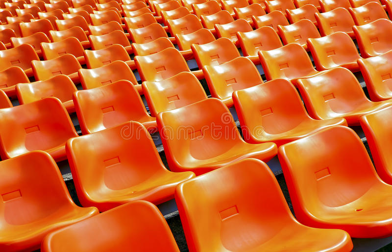 Sièges de plastique de stade photo libre de droits