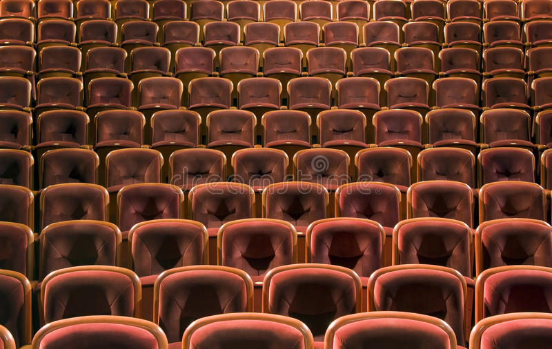 Sièges de théâtre photos libres de droits