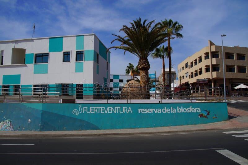 Sièges sociaux de base espagnole de réservation de biosphère de l'UNESCO images libres de droits